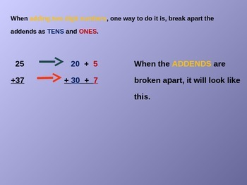 Break Apart Addends