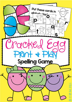 Easter Egg Print and Play Center - Sorting Cards - FREE