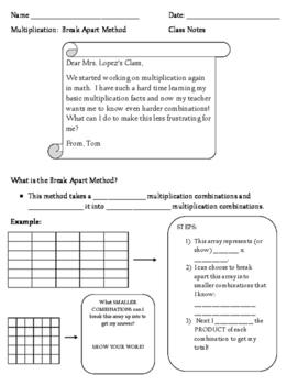 Break Apart Method of Multiplication