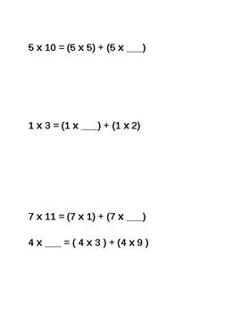 Break Apart Strategy  - Math