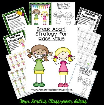 Break Apart Strategy for Place Value Quick and Easy to Prep Center Game