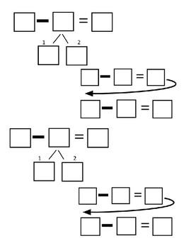 Break Apart Subtraction Strategy Organizer