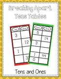 Break Apart Ten Table - Breaking Apart 10 - Common Core Aligned Math Folder Game