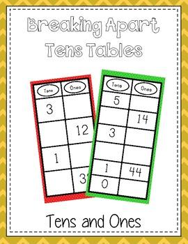 Break Apart Ten Table - Breaking Apart 10 - Common Core Aligned Math Folder Game