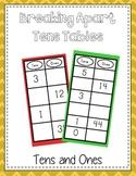 Break Apart Ten Table - Breaking Apart 10 - Common Core Al