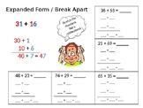 Break Apart With 2-Digit Numbers