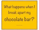 Break Apart and Decompose Activity - Chocolate Bars