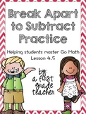 Break Apart to Subtract Practice Worksheets