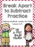 Break Apart to Subtract Practice Worksheets