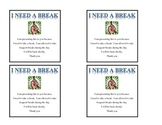 Special Education- Break Cards