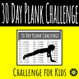 30 Day Plank Challenge for Kids