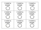 Break Cards Social Skills