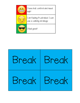 Break Cards and Frustration Scale