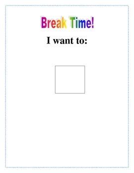 Break Choice Chart Packet