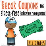 Break Coupons for Stress-Free Behavior Management