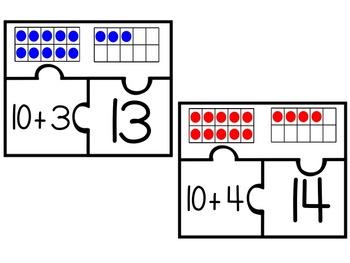 Break It Down--Decomposing Teen Numbers Puzzles