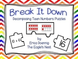 Break It Down--Decomposing Teen Numbers Puzzles