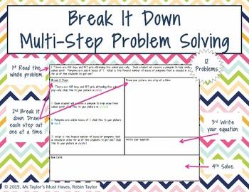 Break It Down Multi-Step Problem Solving 4.5A