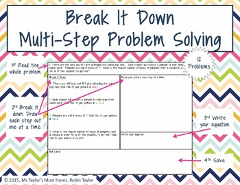 Break It Down Multi-Step Problem Solving