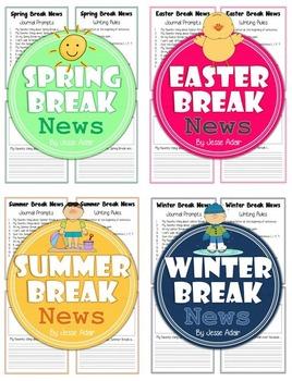 Break News Bundle: Journal Prompts For Spring, Easter, Summer, Winter