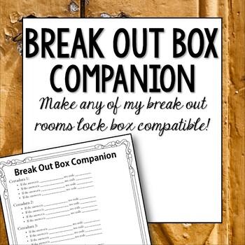 Break Out Box Companion Editable by Manzana para la ...