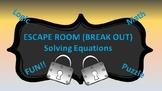 Algebra I Break Out ( Escape Room ) Solving Equations--SLEEP themed