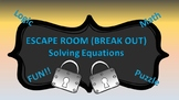 Algebra I Break Out ( Escape Room ) Solving Equations--SLE