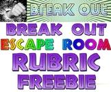 Break Out Escape Room rubric freebie