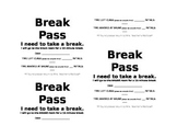 Break Pass (word document can be edited)