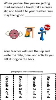 Break Slips (Behavior Intervention)