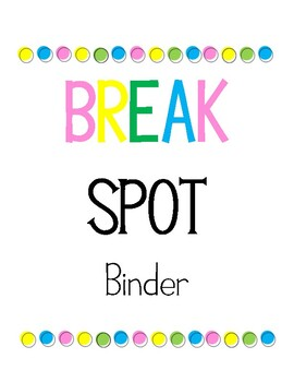 FREE Break Spot Binder Cover