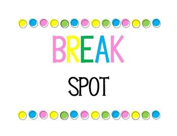 FREE Break Spot Poster