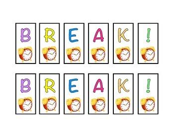 Break Strip - Visual Aid
