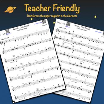 Break, That Break - Sheet Music For Beginning Concert Band (Grade 1.5)