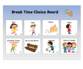 Break Time Choice Board