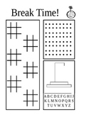 Break Time Free Choice Activity Sheet