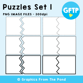 Puzzle Clipart - Break Up Card Graphics - Graphics From the Pond