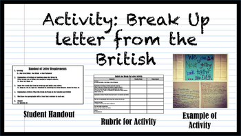 Break Up Letter with the British