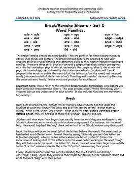 Break and Remake - Set 2