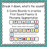 First Sound Fluency/Phoneme Segmentation Gameboards