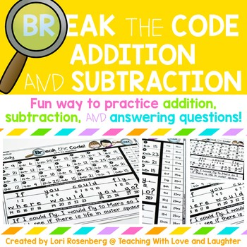 Break the Code Addition and Subtraction