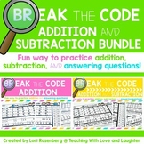 Break the Code Addition and Subtraction BUNDLE