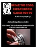 Break the Code: Escape Rooms for PE