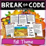 Break the Code Escape the Corn Maze   Fall Critical Thinki