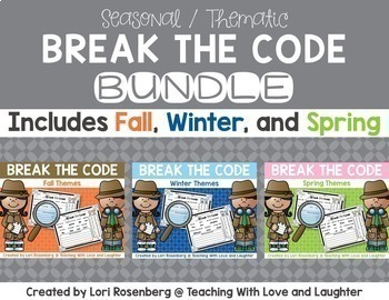 Break the Code - Fall, Winter, and Spring Themes Bundle