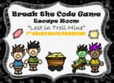 Escape Room (Lost in Troll Mine)-1st Grade Math Computation & Word Problems