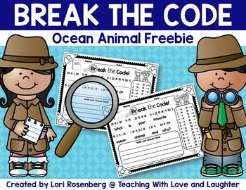 Break the Code - Ocean Animal Freebie