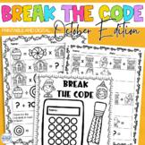 Break the Code   October