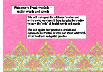 Break the Code - Reading intervention for adolescent readers