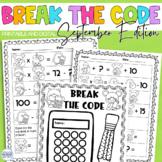 Break the Code   September